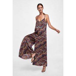 NWT Zara Paisley Jumpsuit